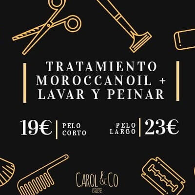 Tratamientos capilares lavar y peinar - Salón Peluqueria Carol and Co estilistes
